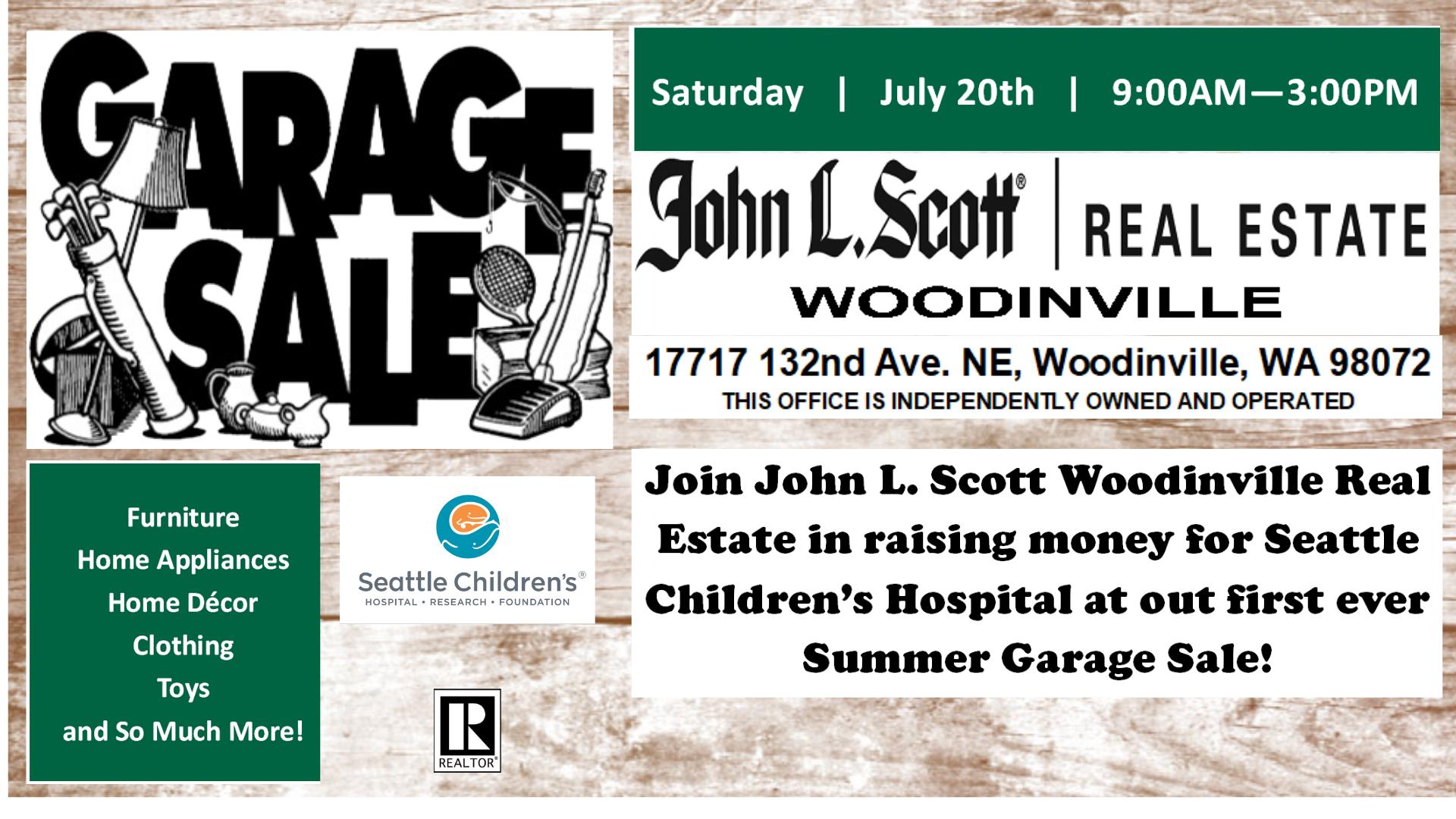 John L  Scott Community Garage Sale! | Woodinville Chamber
